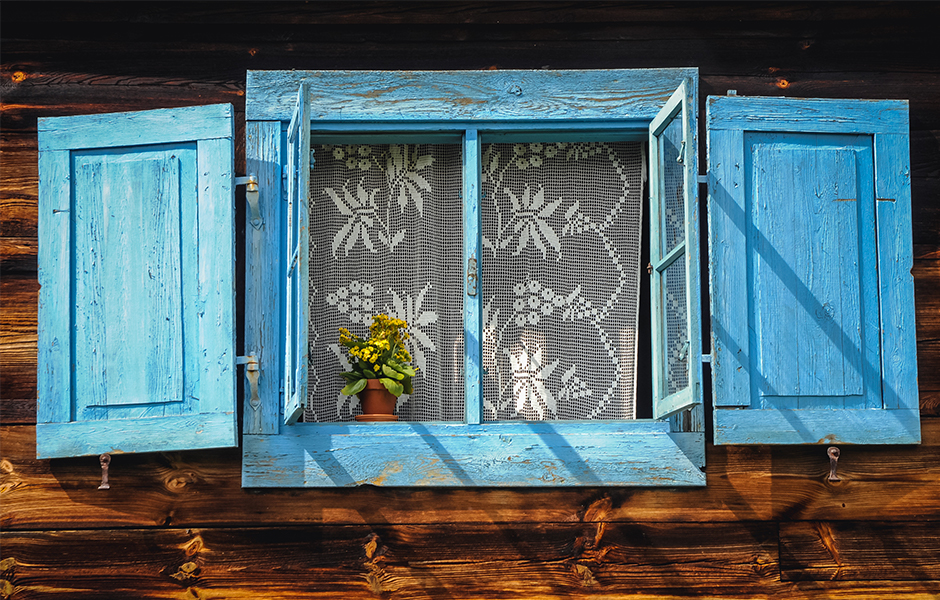 Weathered Shutters for DIY Home Decor Project
