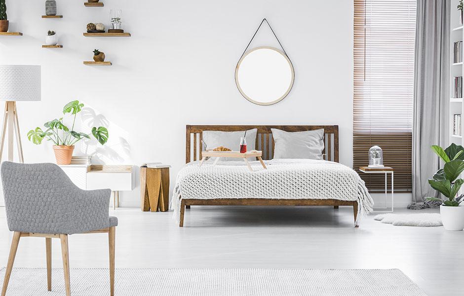 Bright and Clean Minimalist Bedroom Interior Design