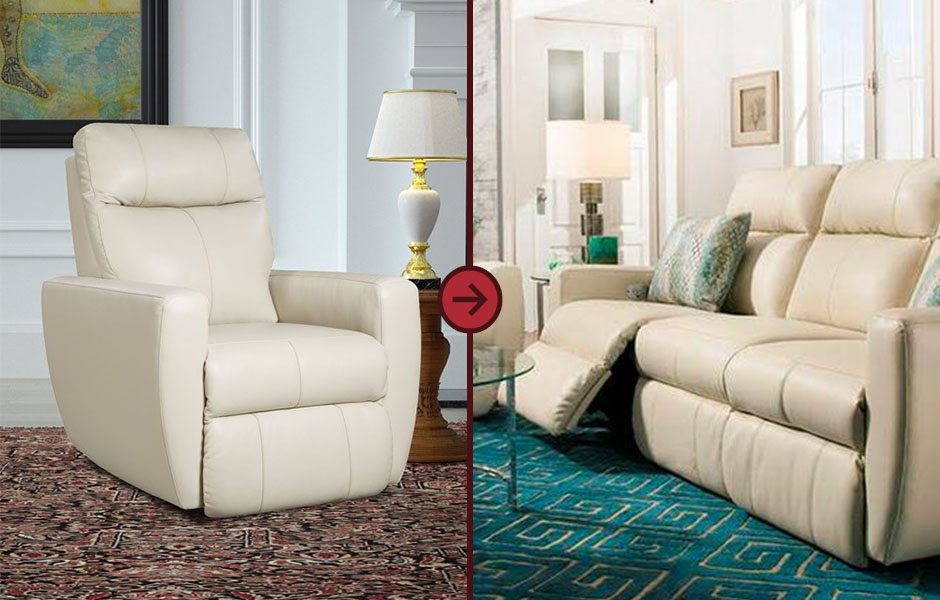 Wall hugger recliners are great for small spaces because they can be pressed against a wall.