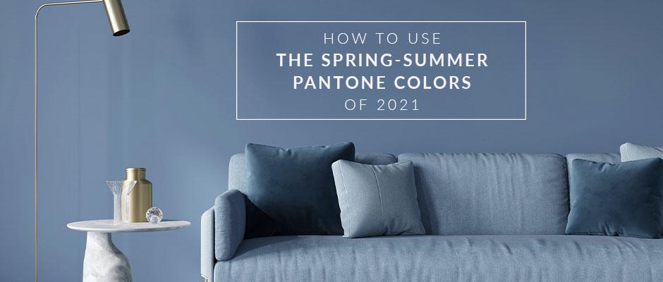 Living room in Pantone Color 2021